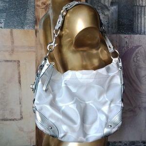 Coach silver  shoulder bag